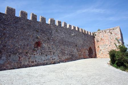 Alanya Castle door & walls Stock Photo - 98602905