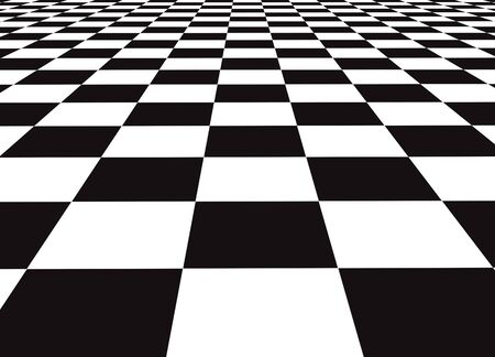 A large black and white checker floor background pattern Stock Photo
