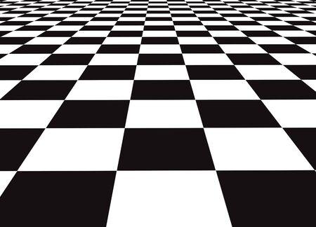 A large black and white checker floor background pattern 版權商用圖片