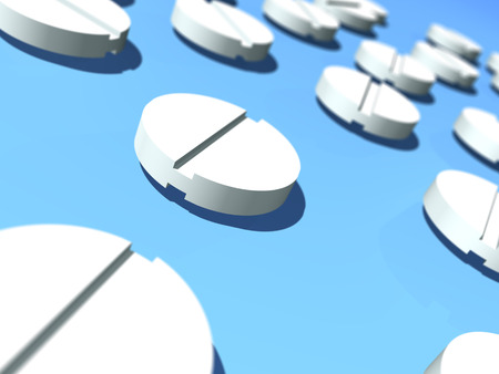Pill close up. 3D rendered