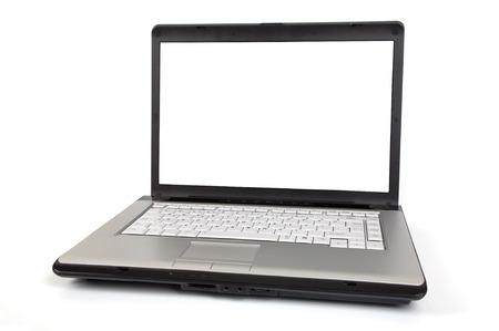 Laptop isolated on white background. 版權商用圖片