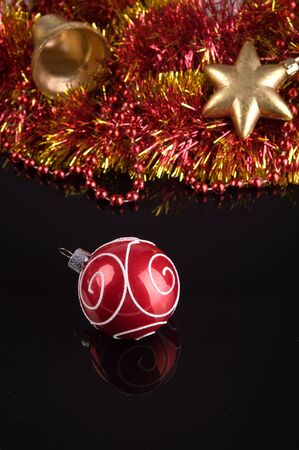 Christmas decorations. Close up of ornaments. Selective focus Stock Photo