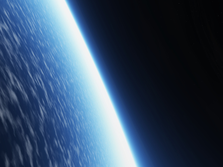 3D rendered earth. Stock Photo