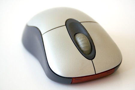Cordless optical computer mouse. 版權商用圖片