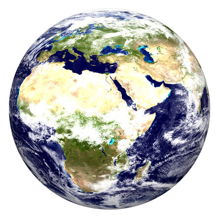 Color image of earth.