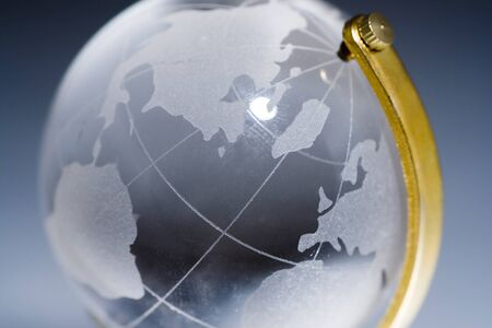 Glass world close up Stock Photo