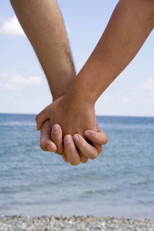 Love on the beach. Stock Photo