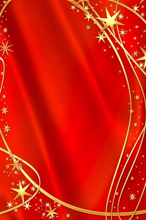 starlit: Beautiful holiday background with golden stars