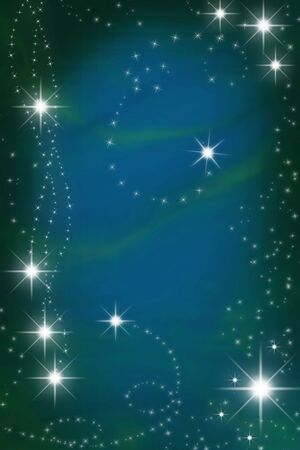 starlit: Magic blue christmas background