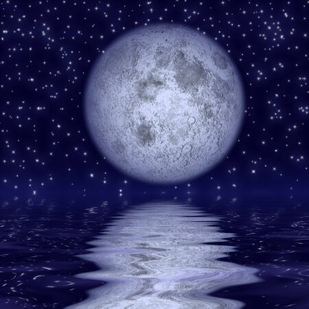 Beautiful moonlight photo