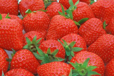 Strawberries background photo