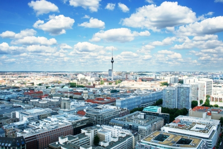 panorama view: Berlin birds-eye view. Germany