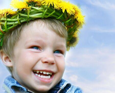 Very happy little child photo
