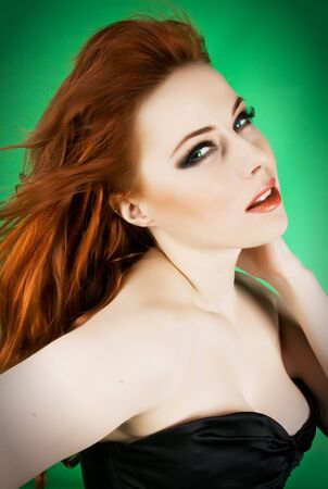 Portrait of pretty redhead woman Stock Photo - 4605148