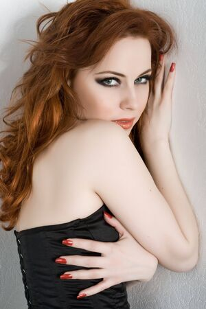 Sexy redhead young woman Stock Photo - 4605218