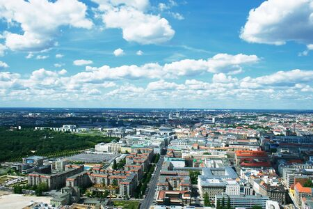 birdseye view: Berlin birds-eye view. Germany