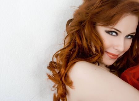 Beautiful young woman with red hair Stock Photo - 4605149