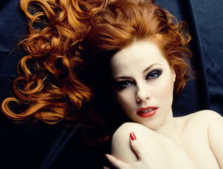 Beauutiful young woman with red hair Stock Photo - 4685629