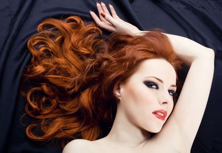 Beautiful sexy woman with red hair Stock Photo - 4880148