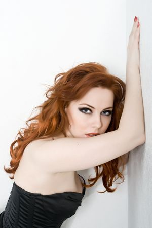 Beautiful sexy redhead young woman Stock Photo - 4880133
