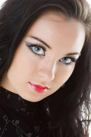 Portrait of beautiful young woman photo