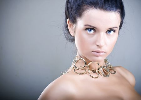Portrait of beautiful young woman with shiny skin Stock Photo - 5884578