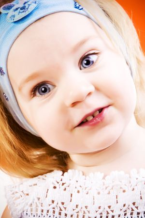 Portrait of very beautiful little girl Stock Photo - 6665744