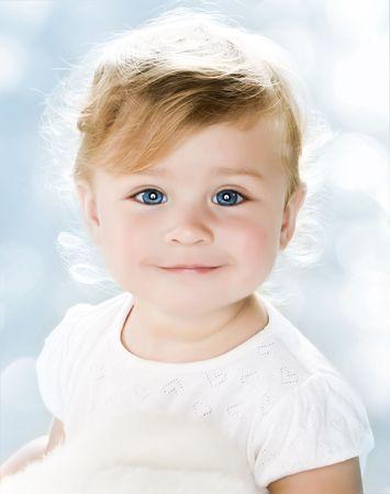Portrait of very sweet little child