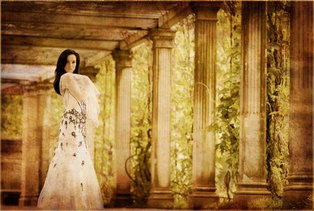 Beautiful wintage woman photo