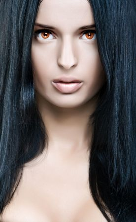 Portrait of beautiful princess of the dark Standard-Bild