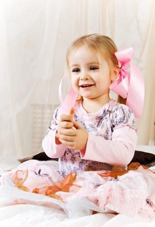 Portrait of beautiful little girl Stock Photo - 8831238