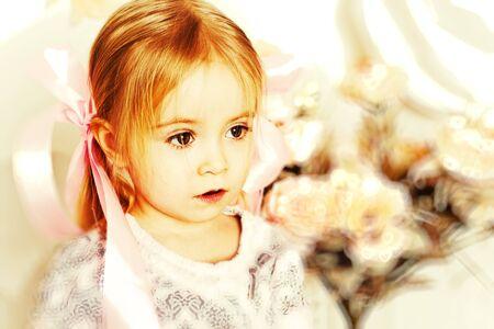 Oirtarit of beautiful sweet little girl photo