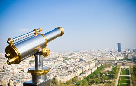 View on Paris from Eiffel tower, Paris, France Stock Photo - 9559285