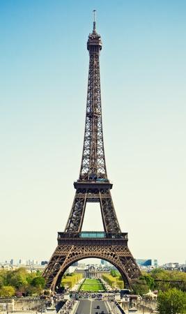 Beautiful view of Eiffel tower, Paris, France Standard-Bild