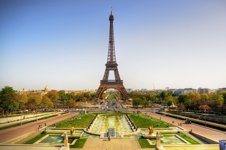 Beautiful view of Eiffel tower, Paris, France photo