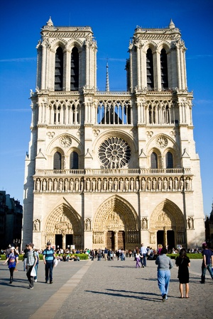 Cathedral Notre Dame de Paris, France Editorial