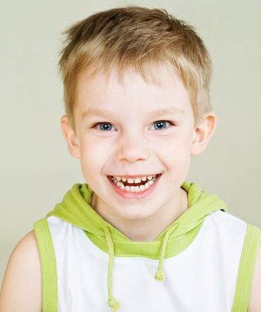 Cute little boy with happy smile Stock Photo
