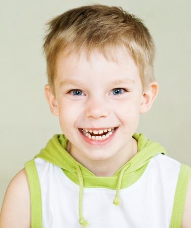 Cute little boy with happy smile Archivio Fotografico