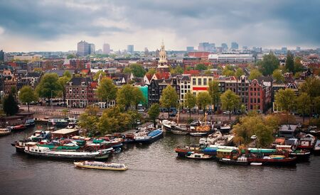 Beautiful view of Amsterdam, Netherlands, Europe