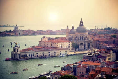 View of Basilica di Santa Maria della Salute,Venice, Italy photo