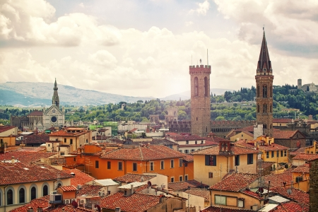 Beautiful view of Florence, Italy photo