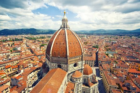 Beautiful cityscape and cathedral Santa Maria del Fiore in Florence, Italy photo