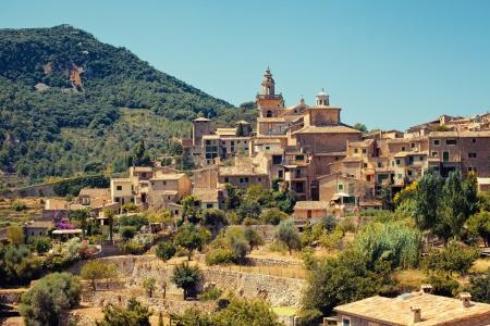 View of Valldemossa village, Mallorca, Balearic island, Spain