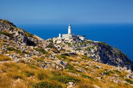 majorca: Lighthouse Formentor, Mallorca, Balearic island, Spain Stock Photo