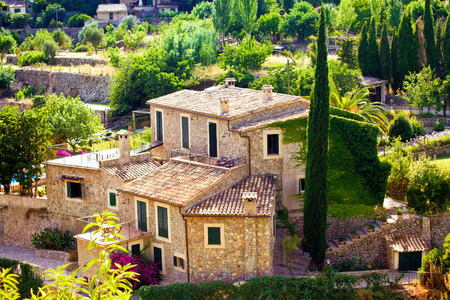 country house: House in Valldemossa village, Mallorca, Balearic island, Spain Stock Photo