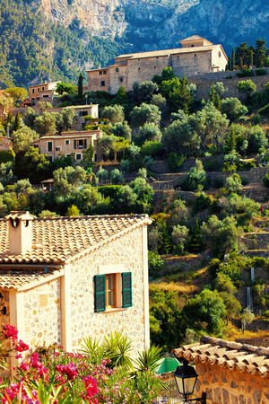 Mountain village Deia in Mallorca, Balearic island, Spain photo