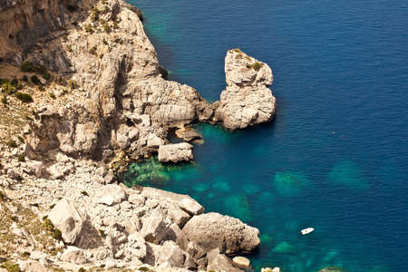 Beautiful rocky coast in Mallorca, Spain photo