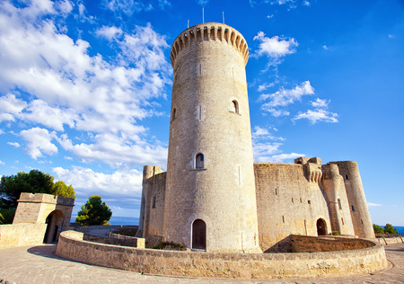 Medieval castle Bellver in Palma de Mallorca, Spain