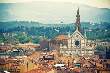 Basilica Santa Croce, Florence, Italy Archivio Fotografico