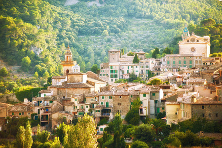 Mountain village Valldemosa in Mallorca, Spain